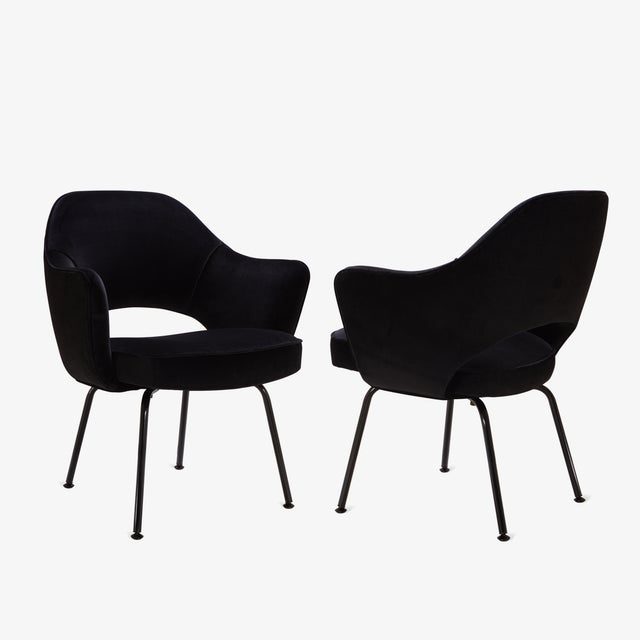 Saarinen Executive Arm Chairs, Black Edition - Set of 6 - Image 3 of 8