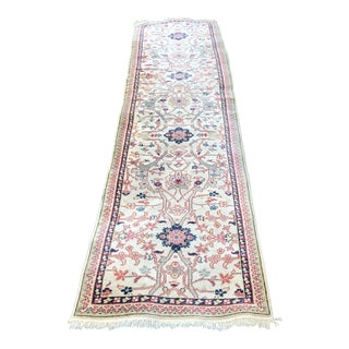 Antique Wool Runner- 2′6″ × 9′10″ For Sale