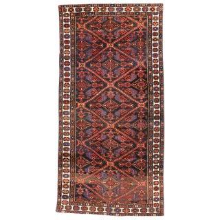 20th Century Persian Bakhtiari Wide Hallway Runner - 4′10″ × 9′8″ For Sale