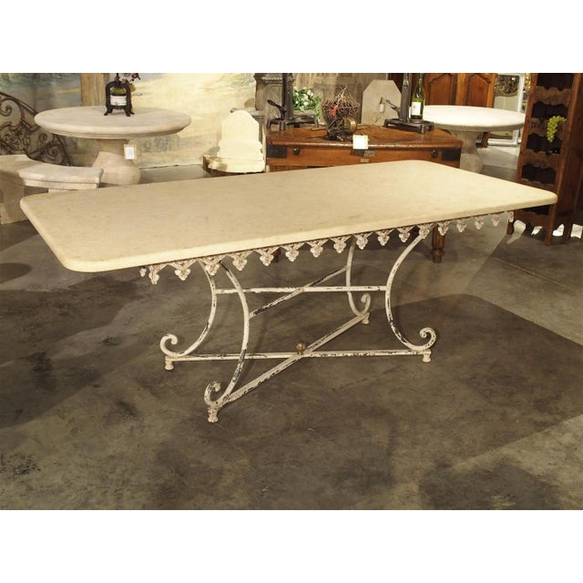 Large Antique French Iron and Marble Butcher Display Table, Circa 1915 For Sale - Image 11 of 11