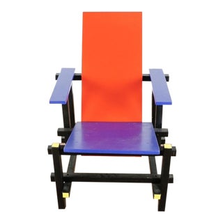 Modern Cassina De Stijl Chair For Sale