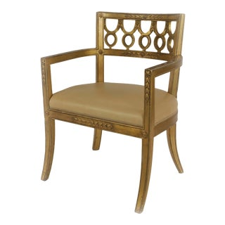 Italian Neo-Classic Wooden Arm Chair For Sale
