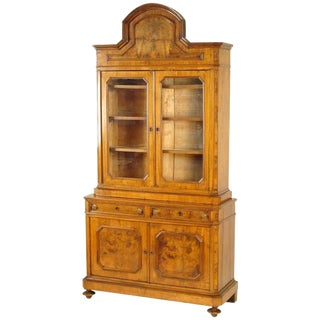 Late 19th Century Antique Napoleon III China Cabinet For Sale