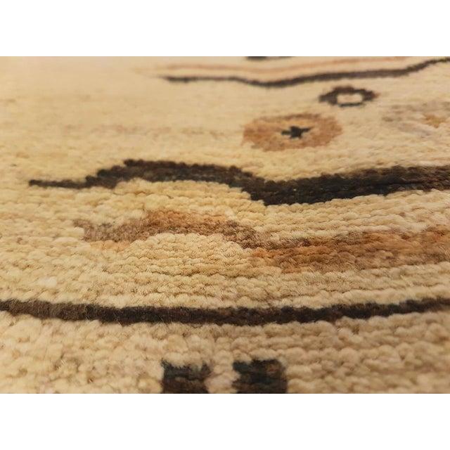 """Kafkaz Peshawar Marinda Tan & Tan Wool Rug - 8'11"""" x 14'10"""" For Sale - Image 4 of 7"""