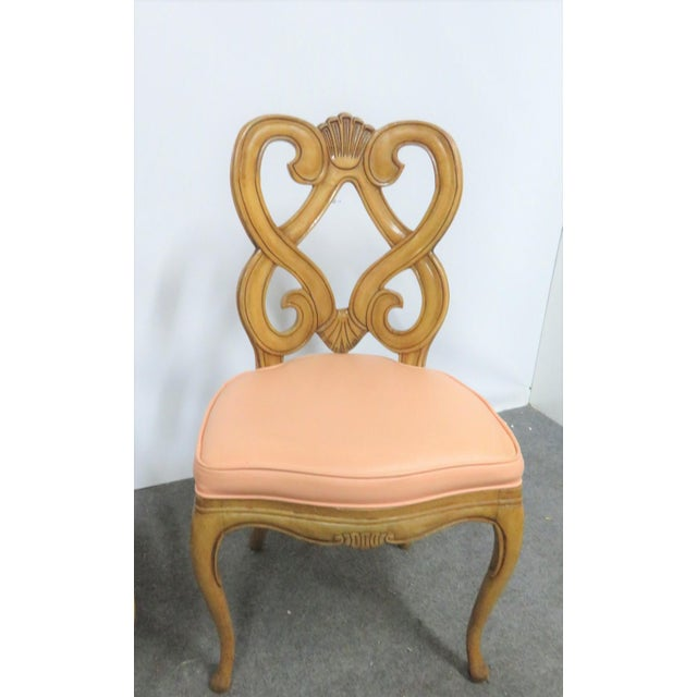 Louis XV Style Maple Shell Carved Dining Chairs- Set of 6 For Sale - Image 4 of 10