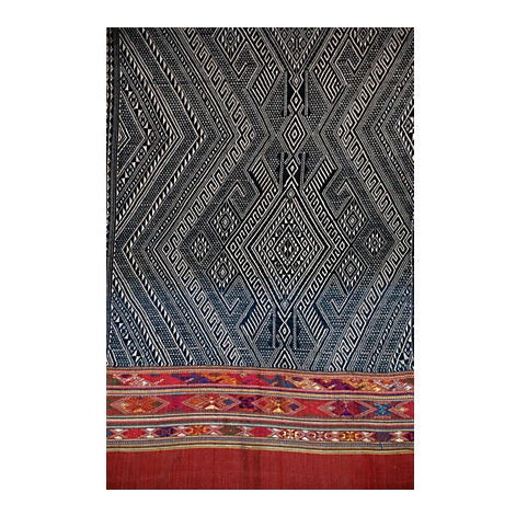 Indigo Dyed Tribal Laotian Textile - Image 2 of 3