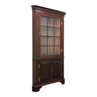 Henkel Harris Model 1114 Hl Solid Mahogany Corner Cabinet For Sale