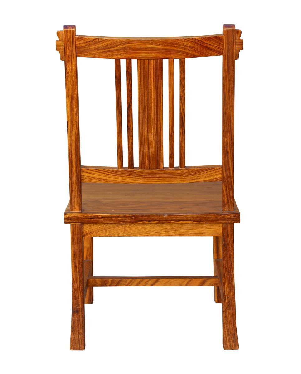 Superbe Handmade Solid Zebra Wood Bar Chair   Image 5 Of 6