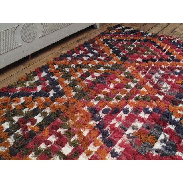 Kurdish Jajim with poms of wool and angora For Sale - Image 4 of 7