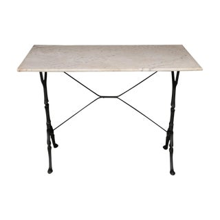 Early 20th Century French Marble-Top Bistro Table For Sale