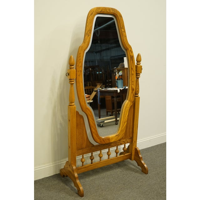 Rustic Late 20th Century Rock City Furniture Country Style Floor Mirror For Sale - Image 3 of 7