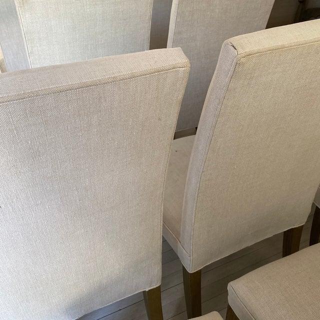 Ecru Restoration Hardware Hudson Chairs, S/10 For Sale - Image 8 of 9