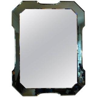 Italian Fontana Arte Style Green Mirror For Sale