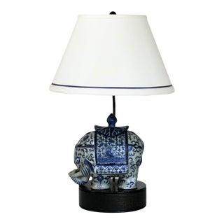 Frederick Cooper Elephant Table Lamp For Sale