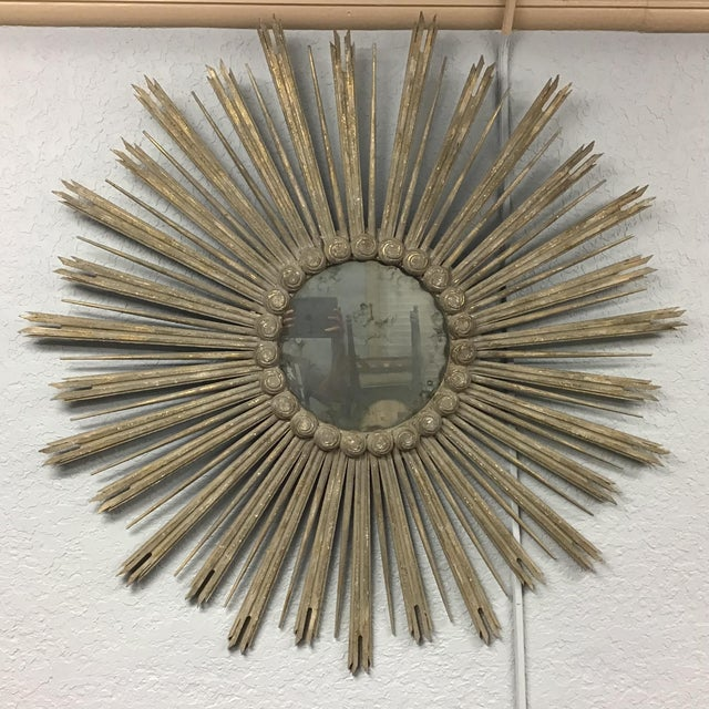 Early 21st Century Very Large 52 Inch Sunburst Mirror For Sale - Image 5 of 6