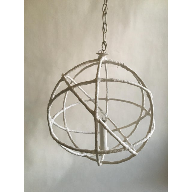 Chic pendant designed by French lighting designer Mathieu Challieres. Great for a small entry hall, breakfast nook (I...