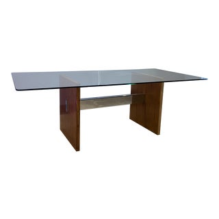 Kai Kristiansen Mid Century Chrome & Walnut Dining Table For Sale