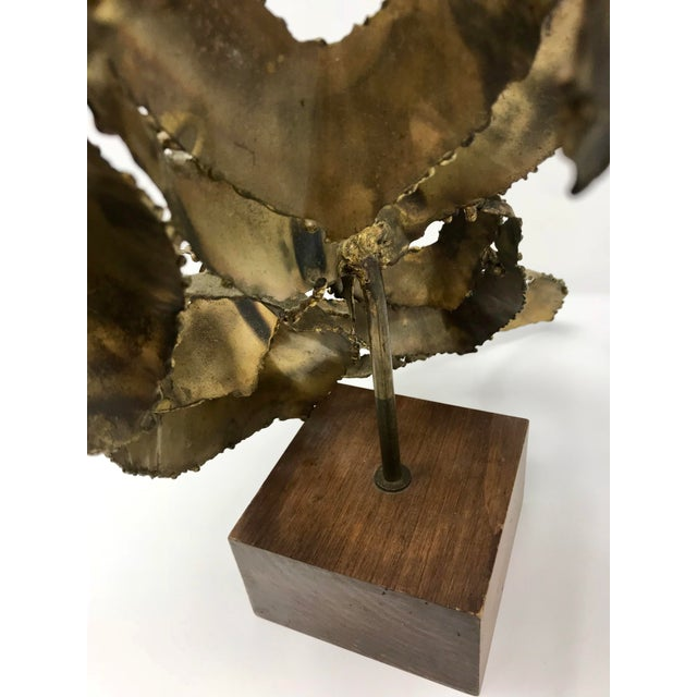 1960s Brutalist Bijan Brass Abstract Sculpture For Sale - Image 11 of 12