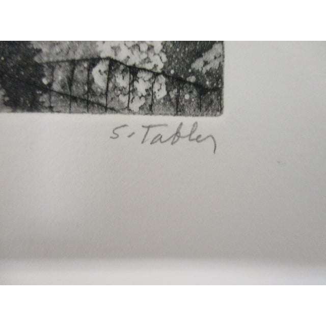 Vintage Lithograph Titled: Garden Walk and Signed by S. Tabler Signed and numbered: 34/85 Size: 10 x 10 x 0.03