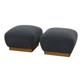 Marge Carson Ottomans - A Pair For Sale