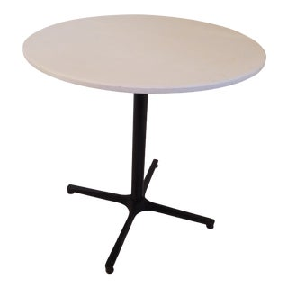 Vintage Modern Black Iron Table With White Top For Sale