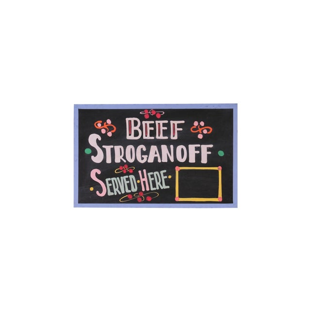 Beef Stroganoff Sign For Sale