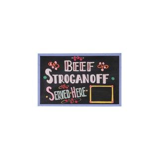 Vintage Beef Stroganoff Sign For Sale