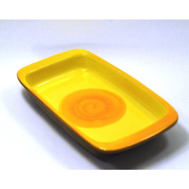 MCM Swedish Yellow/Orange Stoneware Tray - Image 2 of 6