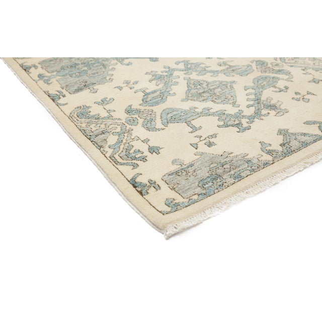 "New Oushak Hand-Knotted Rug - 2' 8"" X 4' 5"" - Image 2 of 3"
