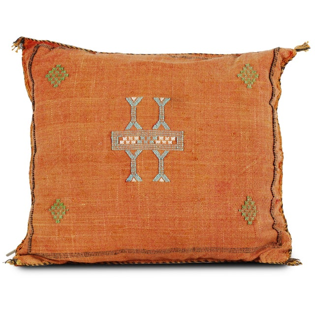 Early 21st Century Orange Sabra Pillow For Sale - Image 5 of 5