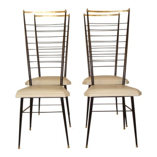 Vintage Italian Dining Chairs - Set of 4 For Sale