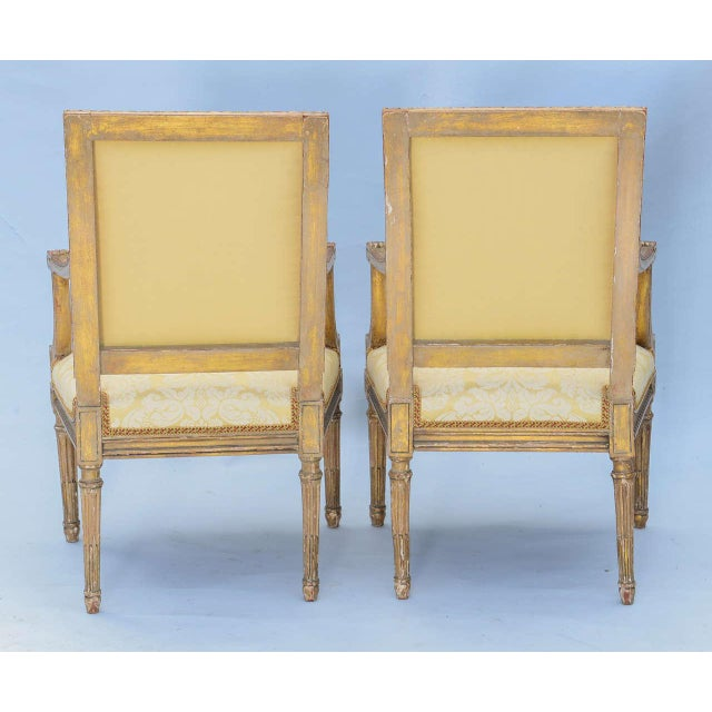 Mid 19th Century Pair of Early 19th Century Louis XVI Fauteuils For Sale - Image 5 of 10