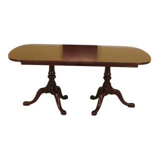 Henkel Harris Banded Top Mahogany Dining Table