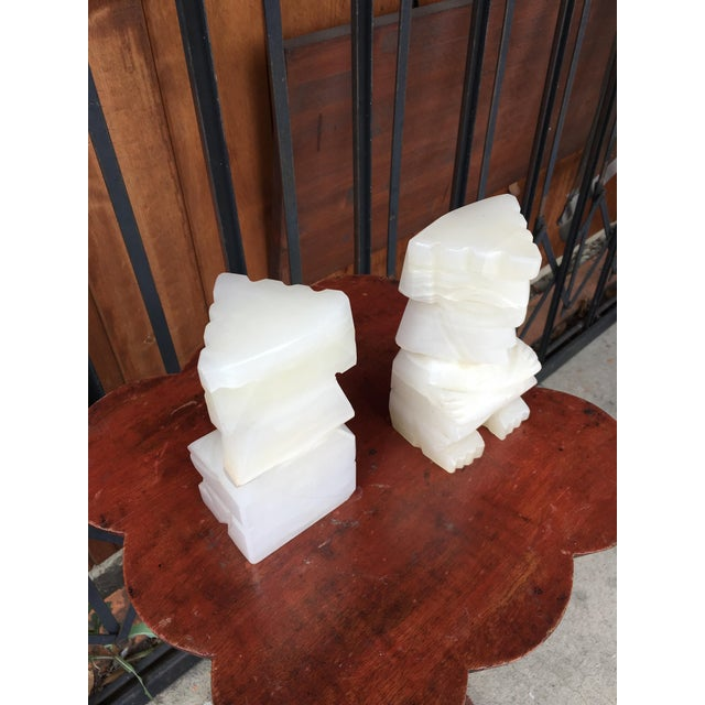 Stone Vintage Marble Aztec Bookends - a Pair For Sale - Image 7 of 9