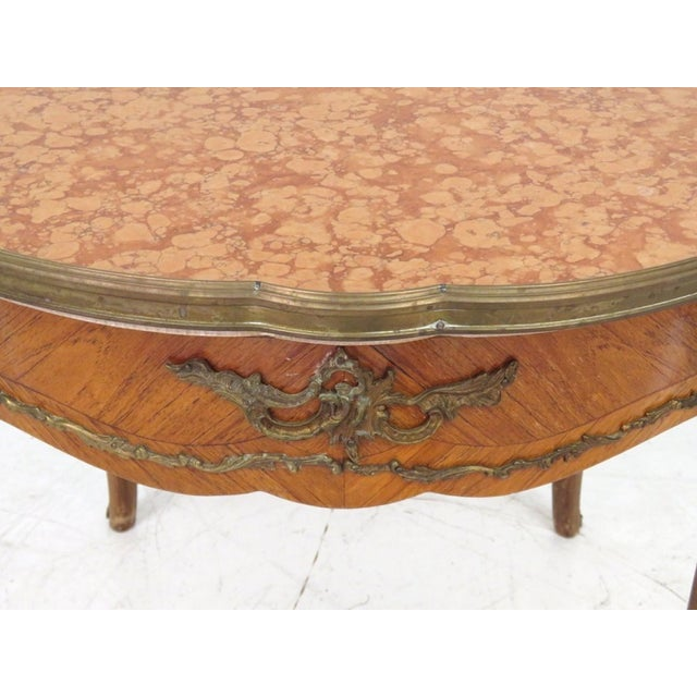 Antique Louis XV Style Bronze Mounted Center Table - Image 3 of 6