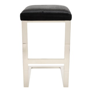Black Hair-On-Hide Hot Toddy Counter Stool For Sale