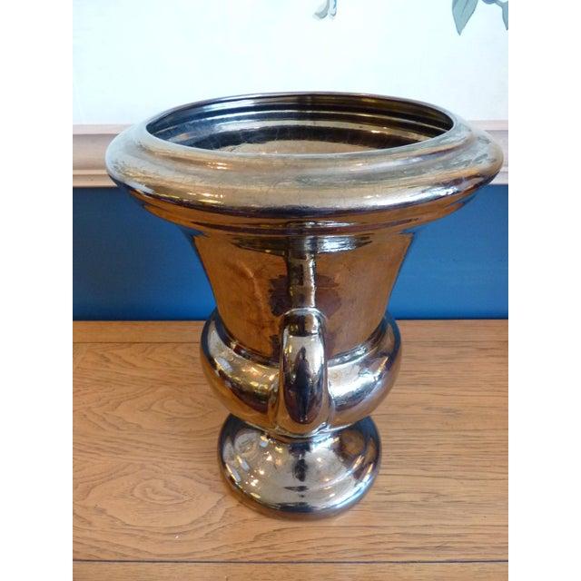 Gold Haeger Glazed Ceramic Urn For Sale - Image 8 of 10