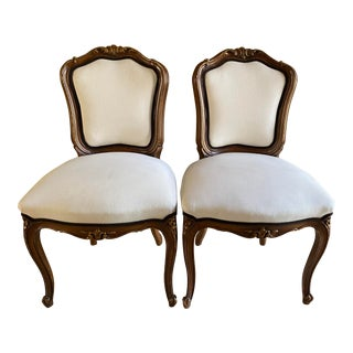 Antique French Upholstered Chairs - a Pair For Sale