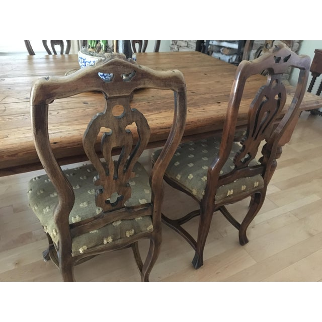 Antique Chippendale French Country Dining Chairs - Set of 6 - Image 3 of 9 - Antique Chippendale French Country Dining Chairs - Set Of 6 Chairish