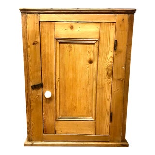 Antique English Pine Cupboard For Sale