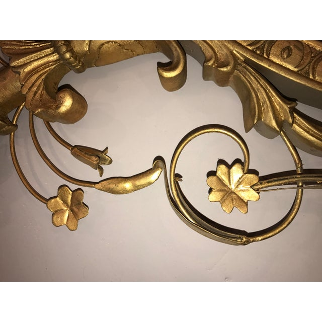Pasargad NY Adam Style Oval Mirror in Gold Metal Leaf Finish - Image 6 of 6
