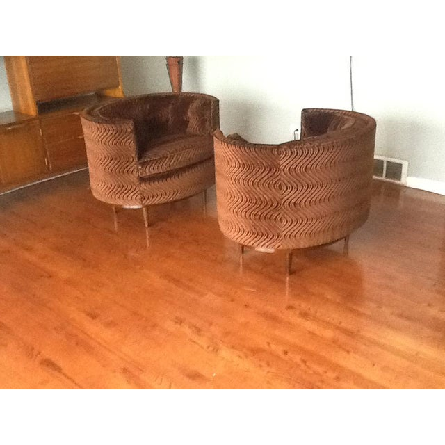 Mid-Century Tufted Club Chairs - A Pair - Image 4 of 7