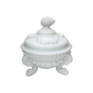 19th-C Victorian Milk Glass Bon Bon Dish For Sale