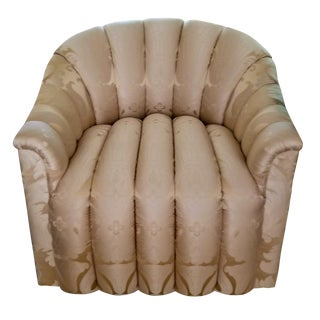 French Champagne Colored Silk Armchair