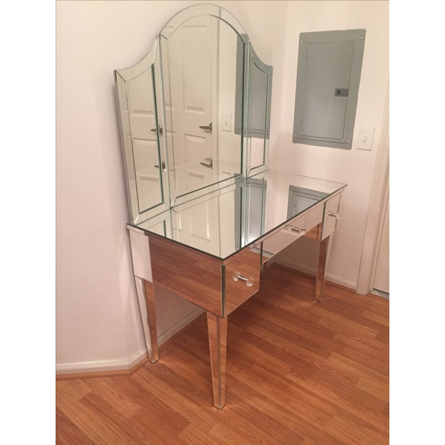 Venfield Custom Mirrored Vanity with Tryptic - Image 2 of 5