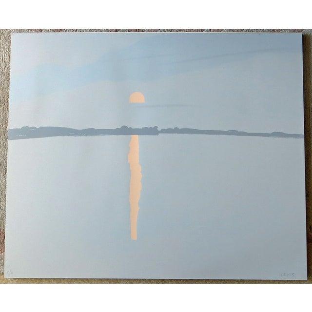 """Lake Wesserunsett II"" Serigraph S/N by Alex Katz - Image 2 of 8"