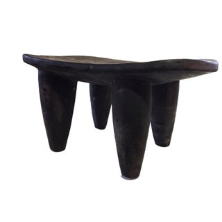 """African Senufo Wood Kids Milk Stool I . Coast 16.25"""" W by 8.75"""" H Preview"""