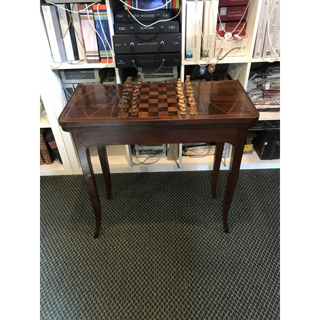 1700's Antique Inlaid Game Table For Sale - Image 9 of 10