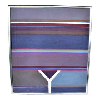 1990s Althea Dodson Taylor Geometric Painting For Sale