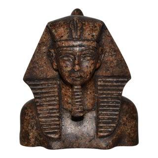 Carved Granite Pharaoh Sculpture For Sale